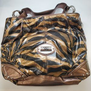 Kathy Van Zeeland Tiger Print Handbag